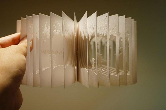 Книга, изготовленная с помощью лазерной резки
